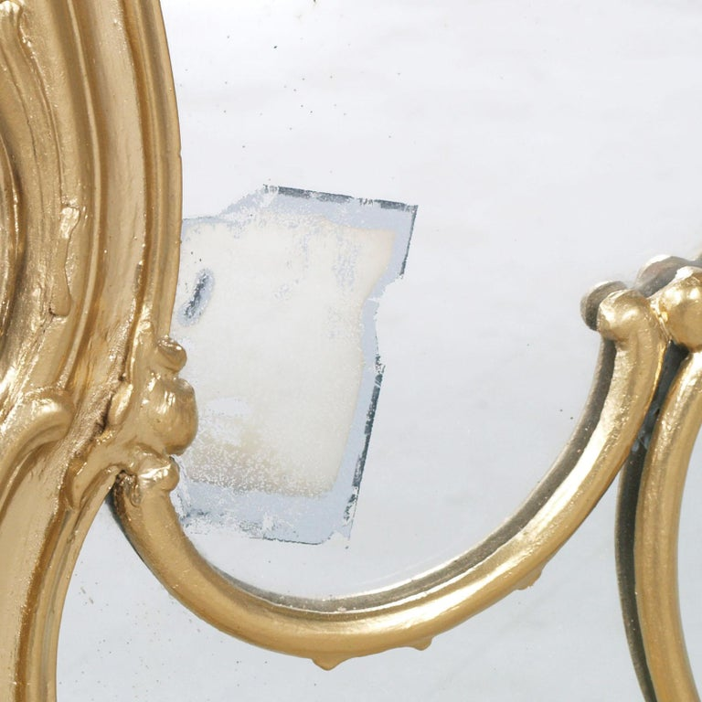 19th Century Great Venice Baroque Wall Mirror, Hand Carved Walnut Gold Leaf For Sale 1