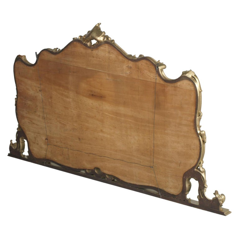 19th Century Great Venice Baroque Wall Mirror, Hand Carved Walnut Gold Leaf For Sale 3