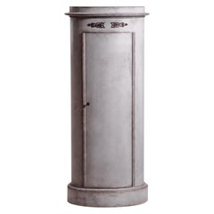 19th Century Grey Danish Neoclassical Greek Style Pinewood Pedestal Cabinet