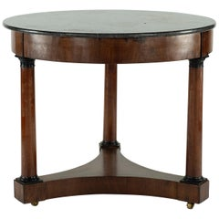 19th Century Gueridon with Marble Top
