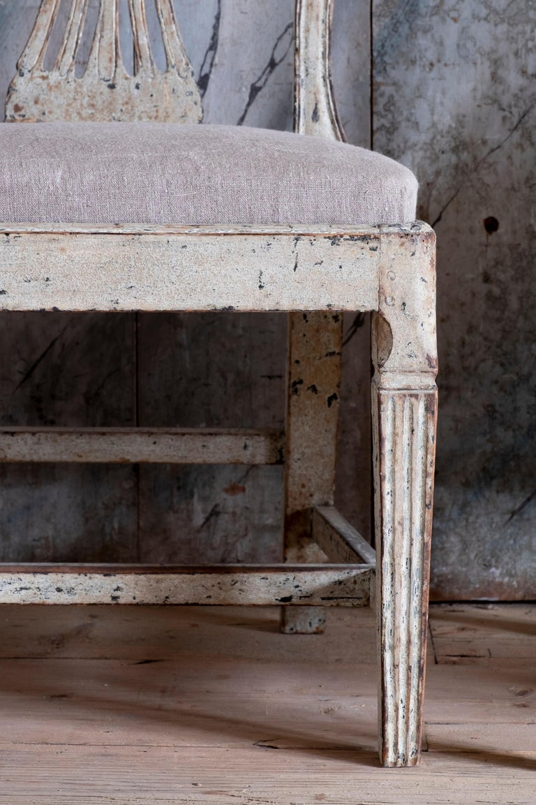 Hand-Crafted 19th Century Gustavian Ax Chairs For Sale