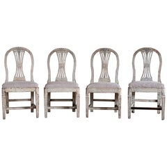 19th Century Gustavian Ax Chairs