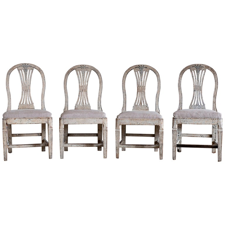 19th Century Gustavian Ax Chairs For Sale