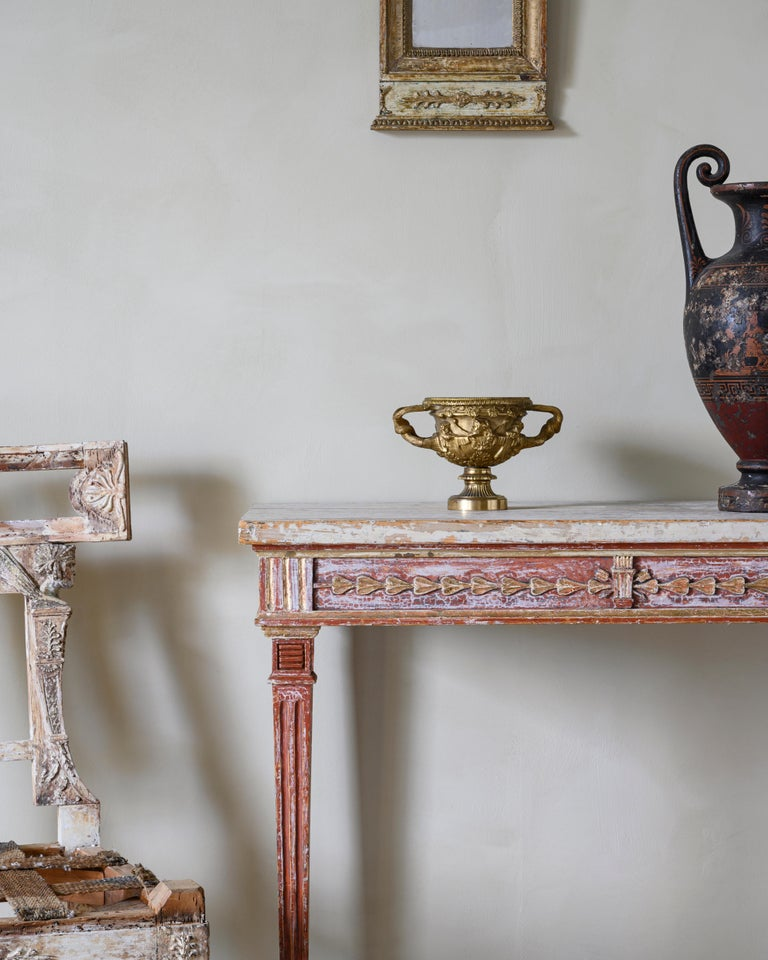 European 19th Century Gustavian Console Table For Sale