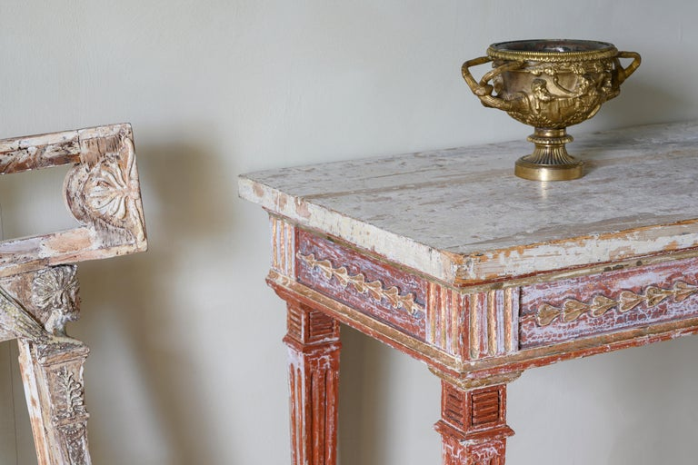 19th Century Gustavian Console Table In Good Condition For Sale In Helsingborg, SE