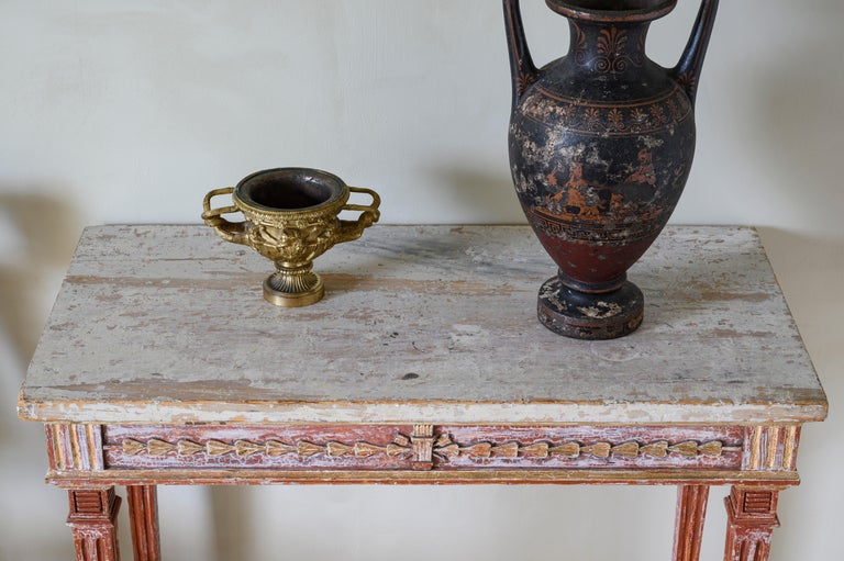 Pine 19th Century Gustavian Console Table For Sale