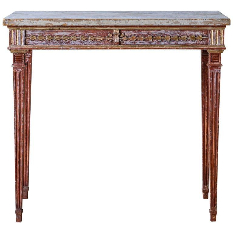 19th Century Gustavian Console Table For Sale