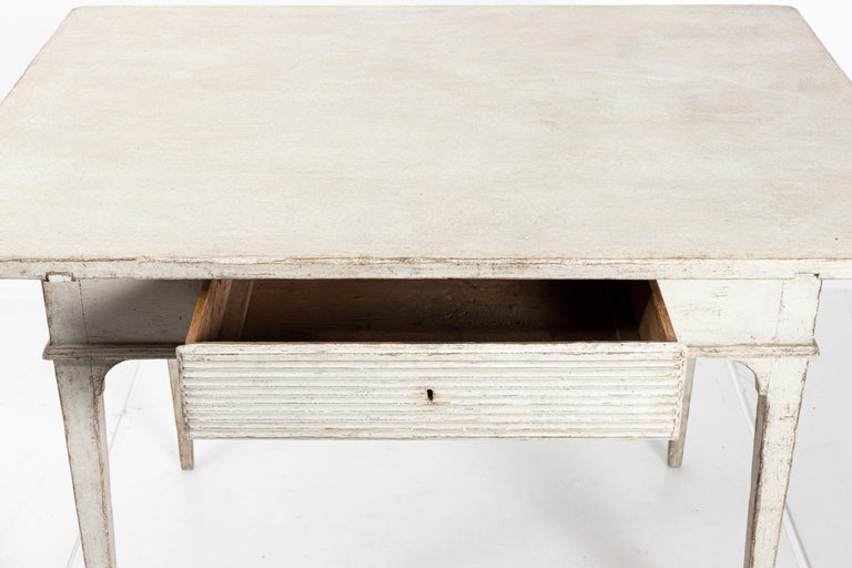 Swedish 19th Century Gustavian Lamp Table with a Single Drawer For Sale