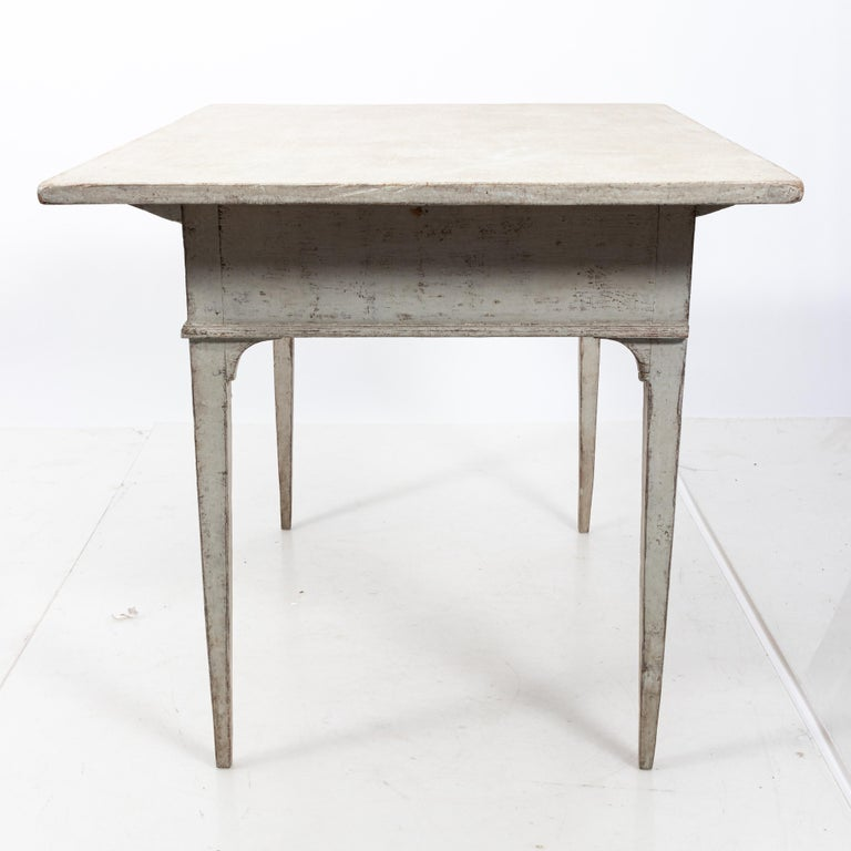 Pine 19th Century Gustavian Lamp Table with a Single Drawer For Sale