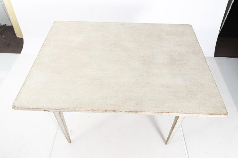 19th Century Gustavian Lamp Table with a Single Drawer For Sale 2