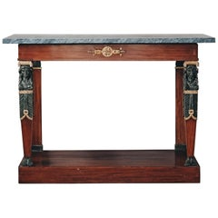 19th Century Gustavian Mahogany Console Table