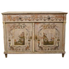 19th Century Gustavian Painted Pine Cupboard