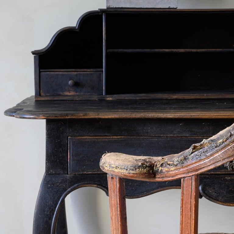 19th Century Gustavian Revolving Desk Chair In Good Condition For Sale In Helsingborg, SE