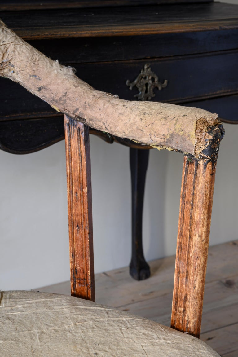 19th Century Gustavian Revolving Desk Chair For Sale 1