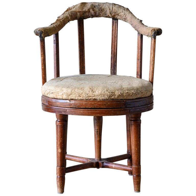 19th Century Gustavian Revolving Desk Chair For Sale