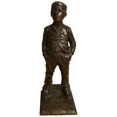 "19th Century Halfdan Hertzberg Bronze Statue ""Le Siffleur"", 1889"