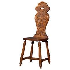 19th Century Hall Oak Chair From The Foudroyant, Lord Nelson's Flagship
