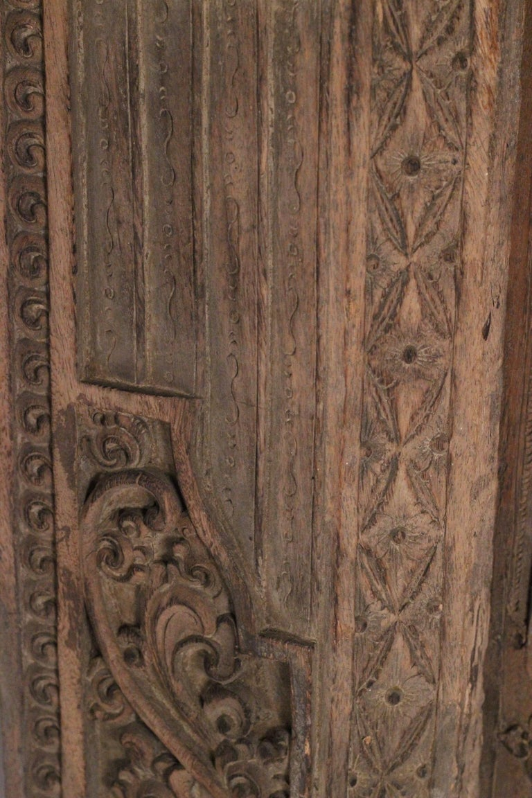 19th Century Hand Carved Balinese Temple Door For Sale 4