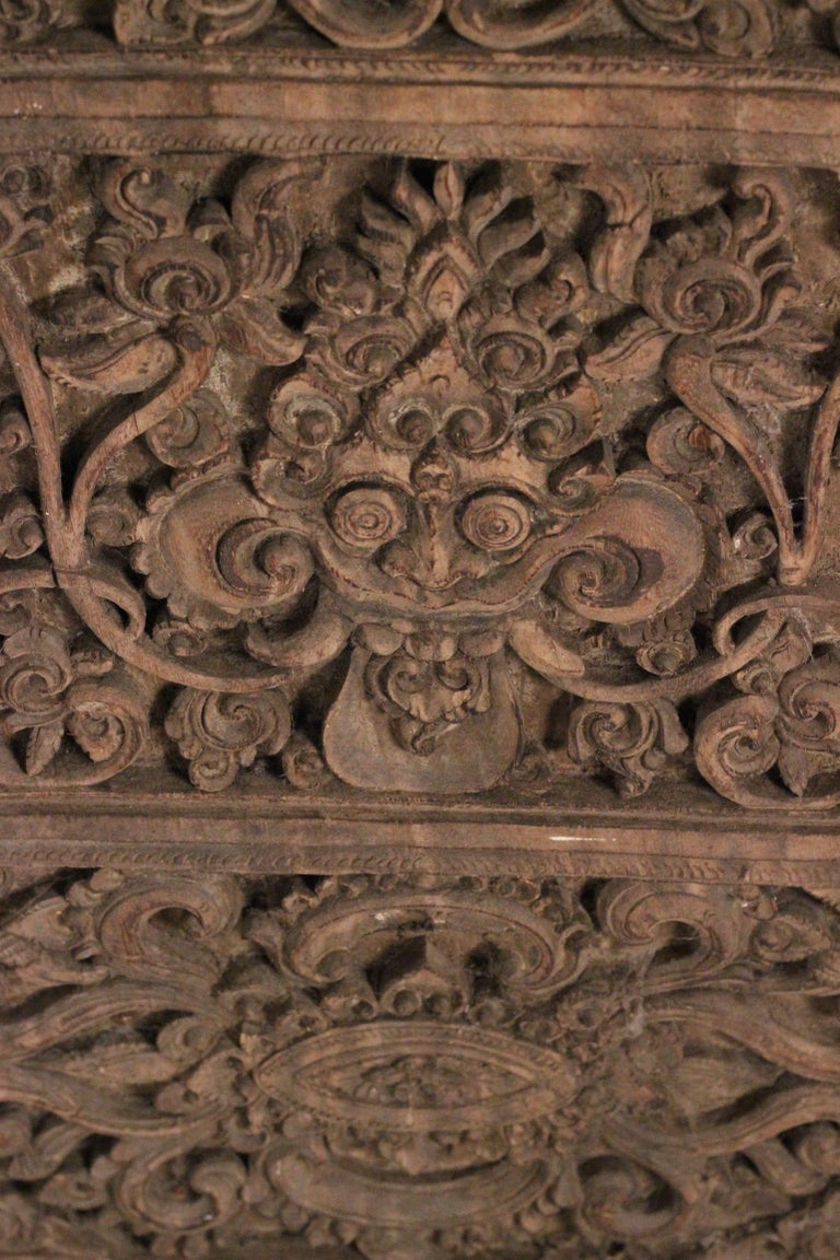 19th Century Hand Carved Balinese Temple Door For Sale 6