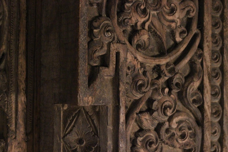 19th Century Hand Carved Balinese Temple Door For Sale 8