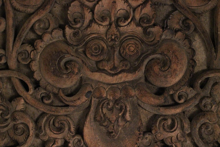 19th Century Hand Carved Balinese Temple Door For Sale 9