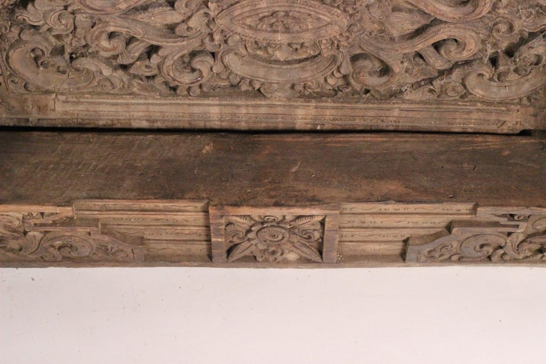 19th Century Hand Carved Balinese Temple Door For Sale 10