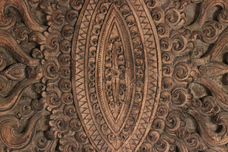 19th Century Hand Carved Balinese Temple Door For Sale 11