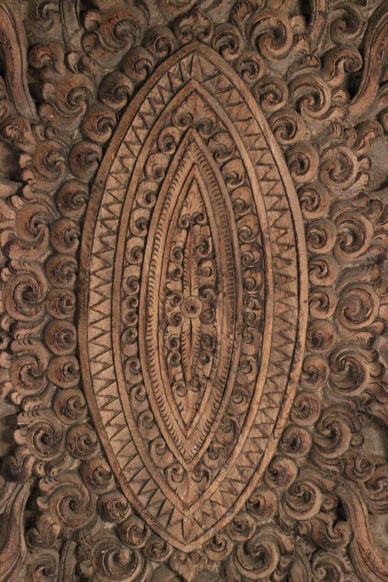 19th Century Hand Carved Balinese Temple Door For Sale 1