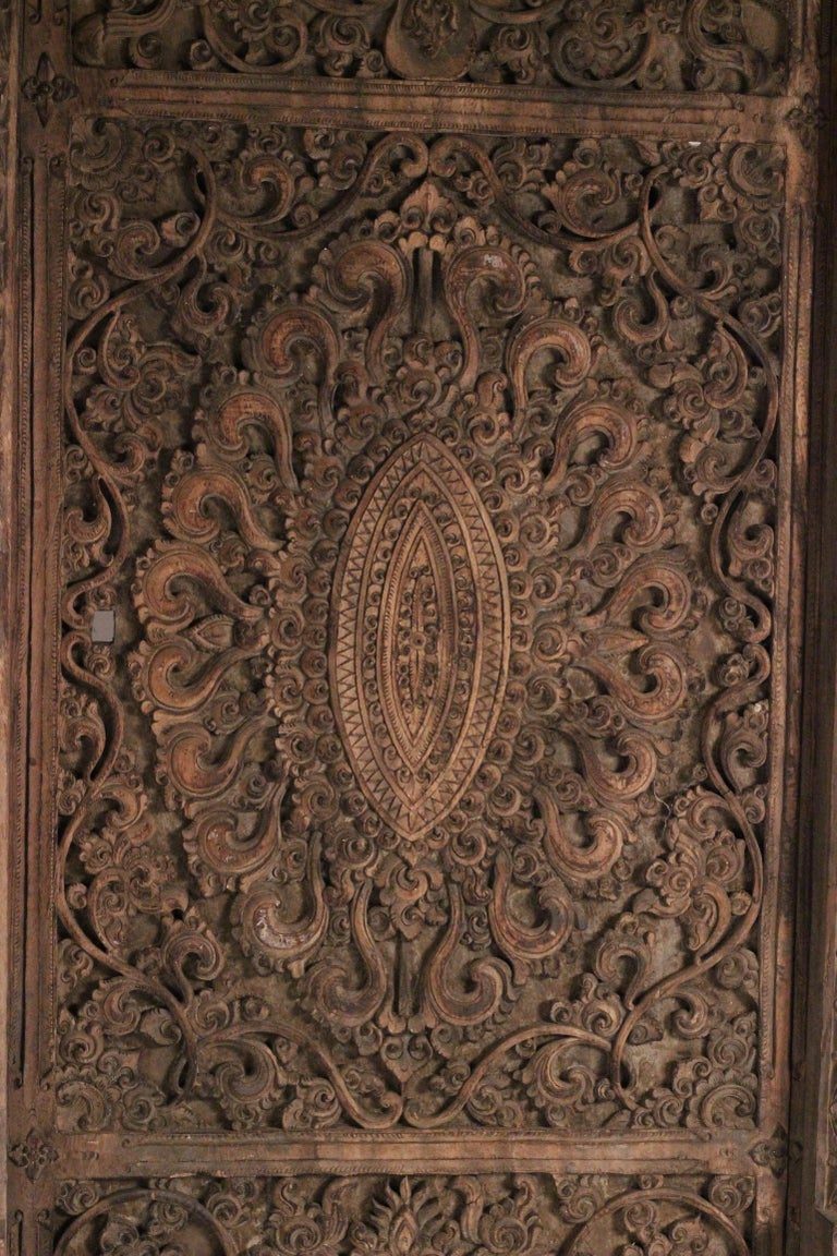 19th Century Hand Carved Balinese Temple Door For Sale 2
