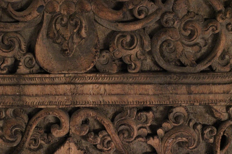 19th Century Hand Carved Balinese Temple Door For Sale 3