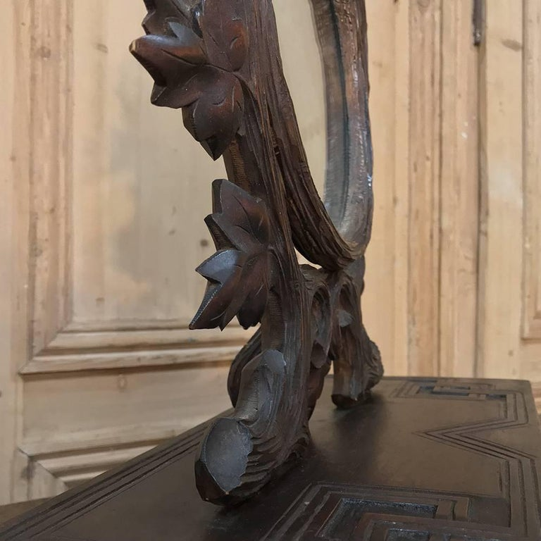 19th Century Hand-Carved Black Forest Vanity Mirror-Box For Sale 3