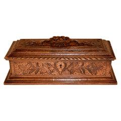 19th Century Hand Carved Dresser Box