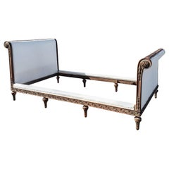 19th Century Hand Carved Empire Day Bed