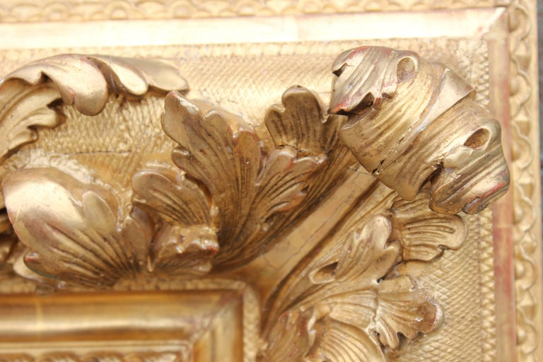 19th Century Hand Carved French Baroque Florentine Style