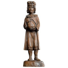 19th Century Hand Carved German Apothecary Shop Display Figure