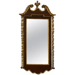 19th Century Hand Carved and Gilded Mahogany Wall Mirror