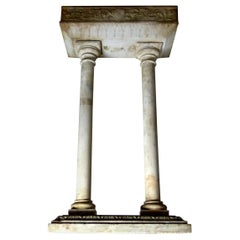 19th Century Hand Carved Marble Font Stand Base