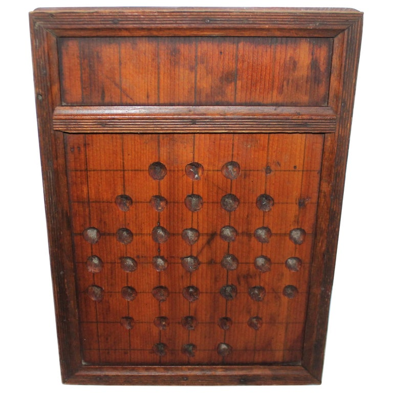 19th Century Hand Carved Marble Game Board For Sale