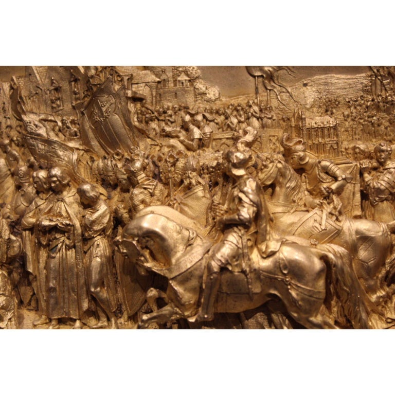 19th Century, Hand-Carved Meerschaum Bas Relief Plaque, Justin Mathieu - French  For Sale 3