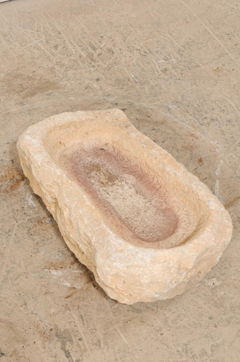 19th Century Hand Carved Stone Trough For Sale 1