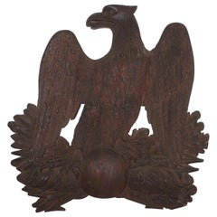19th Century Hand Carved Wooden Eagle from New England