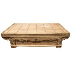 19th Century Hand Carved Wooden Oriental Coffee Table