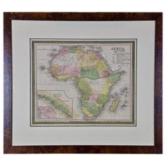 19th Century Hand-Colored Map of Africa by Henry Tanner