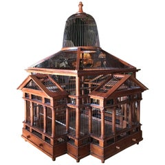 19th Century Handcrafted Birdcage Decorative Interior Design Element Gift IDEA