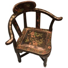 """19th Century Hand Painted Corner Child's Armchair by """"Winsor and Newton"""""""