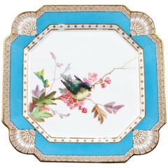 19th Century Hand Painted English Aesthetic Movement Ornithological Plates