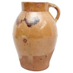 19th Century Hand Painted Rustic Popular Traditional Ceramic