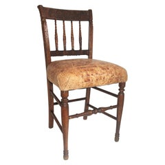 19th Century Handmade English Chess Carved Chair