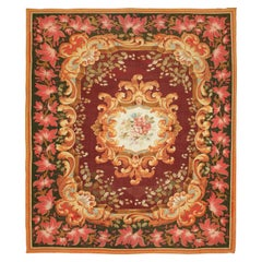 19th Century Handwoven Aubusson Tapestry, Floral Design, Finest Quality