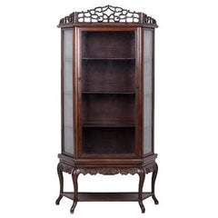 19th Century Hardwood Display Cabinet